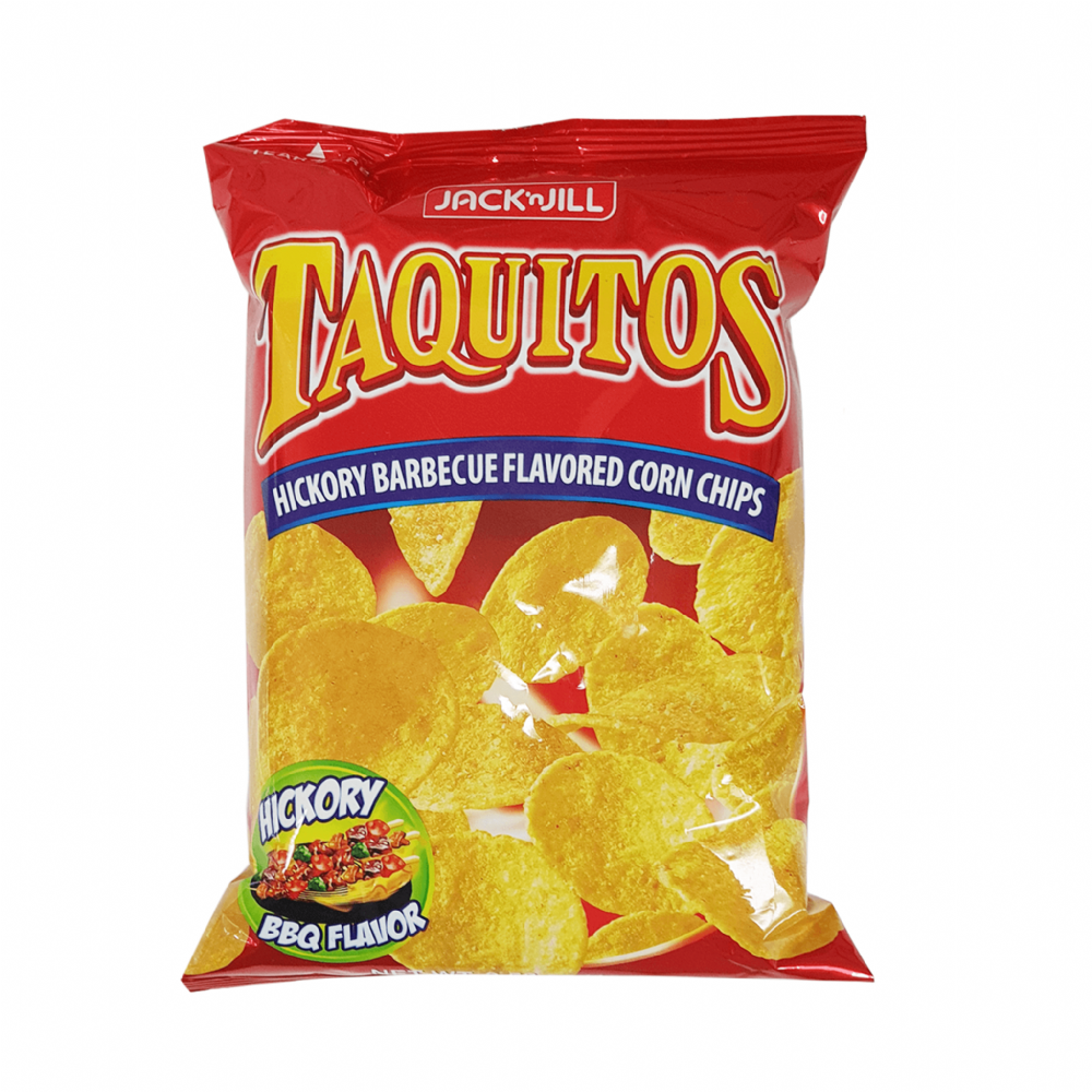 Jack'n Jill Taquitos Hickory Barbecue Flavored Corn Chips 100g